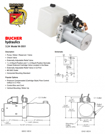 BUCHER MONARCH M-3551 Hydraulic Power System