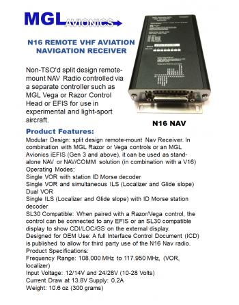 MGL N16 Remote NAV