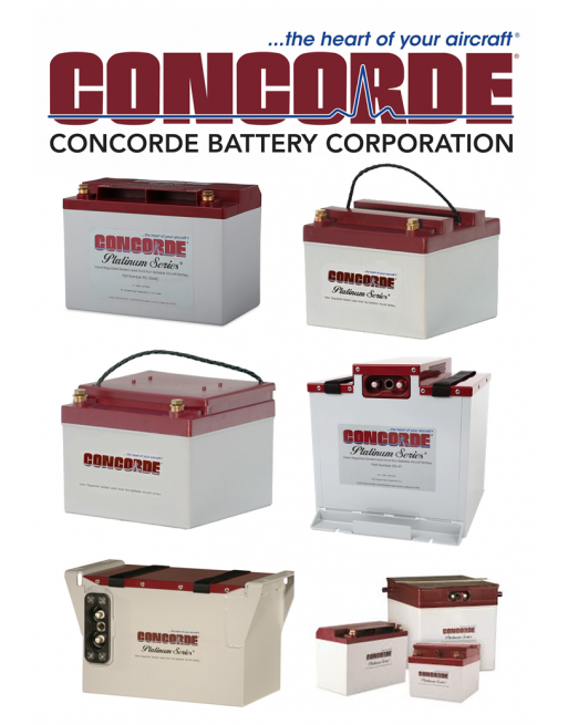 CONCORDE RG Series Aircraft Battery