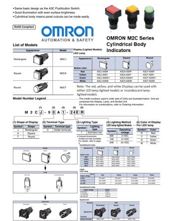 OMRON M2C Series Indicators