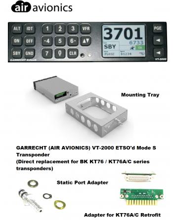 GARRECHT (AIR AVIONICS) VT-2000 Transponder & Accessories