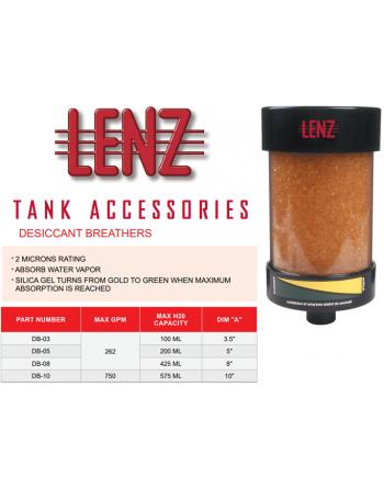 LENZ Model DB Desiccant Breathers