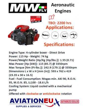 MWFly SPIRIT RED LINE115 Engine