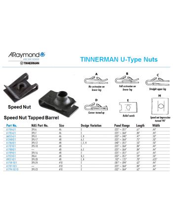 ARaymond Tinnerman U Type Nuts