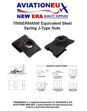 AVIATIONEU NEW ERA Tinnerman Equivalent J Type Nuts