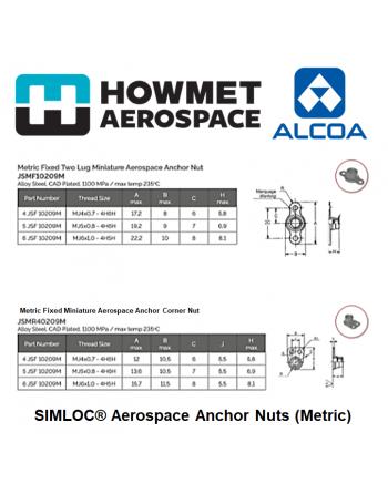 HOWMET ALCOA SIMLOC Metric Anchor Nuts JS Series