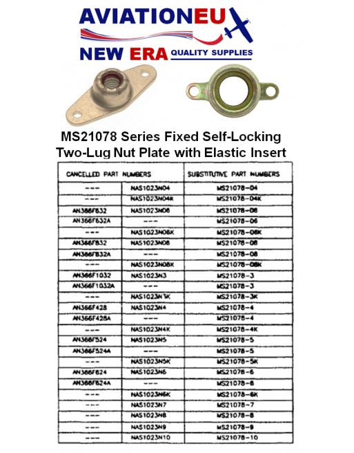 AVIATIONEU NEW ERA MS21078 Series Nut Plate