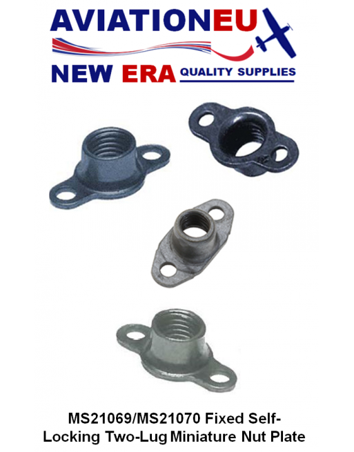 AVIATIONEU NEW ERA MS21069-MS21070 Series Miniature Self-Locking Nut plate