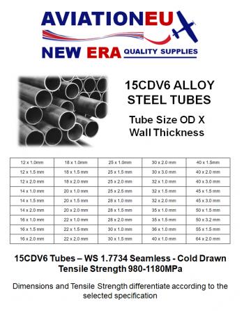 AVIATIONEU NEW ERA 15CDV6 Alloy Steel Tubes