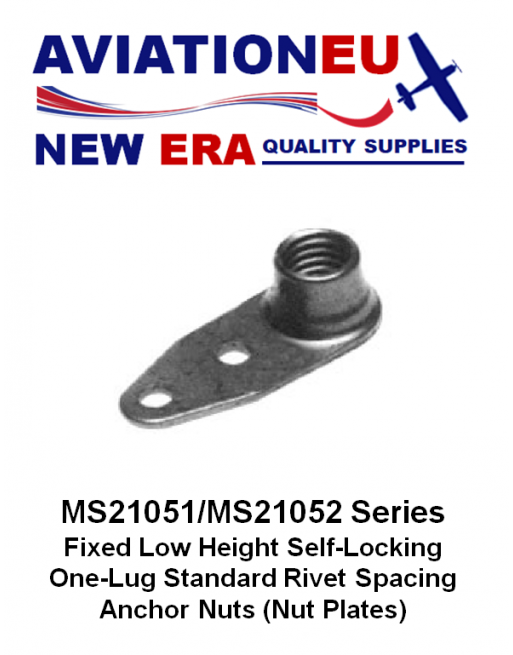 AVIATIONEU NEW ERA MS21051-MS21052 Series Self-Locking Nutplates