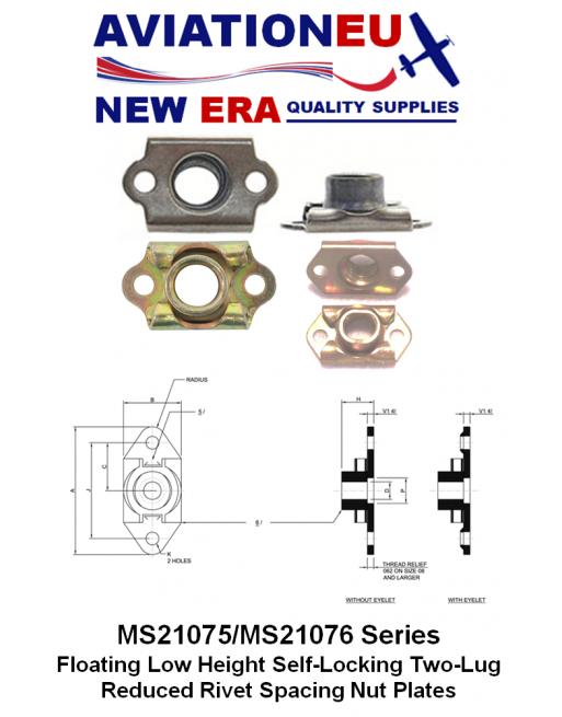 AVIATIONEU NEW ERA MS21075-MS21076 Series Nutplates