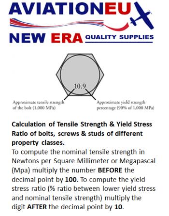 AVEUNE Bolting Grade Tensile-Yield Calculation