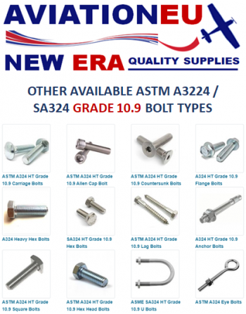 AVIATIONEU NEW ERA ASTMA3224-SA324 10.9 Bolt Types